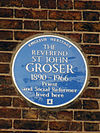 Reverend St.John Grosser - Blue Plaque.JPG