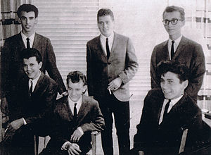 Richard Manuel - Manuel (back row, left) with the Revols in 1958