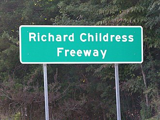 Richard Childress - A section of Interstate 85 between exit 96 and exit 102 has been declared the Richard Childress Freeway.