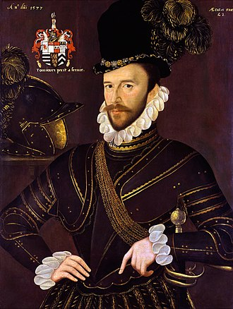 Richard Drake - Richard Drake, by John Gower, 1577, National Maritime Museum, Greenwich