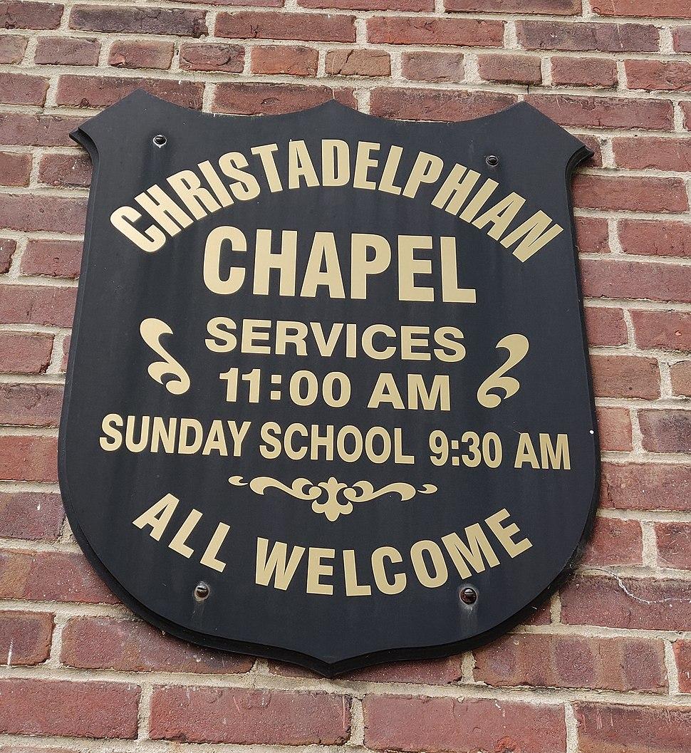 Richmond Chapel sign