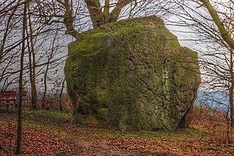 Riesenstein (Wolfershausen) - The megalith Riesenstein from the north. HDR Image.