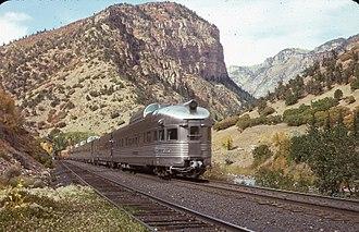 Rio Grande Zephyr - Rio Grande Zephyr in Glenwood Canyon 1975
