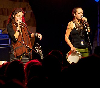 Chloe Smith (musician) - Rising Appalachia duo at the Urkult 2011 festival in Sweden