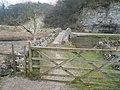 River Bradford - Footbridge and Gate - geograph.org.uk - 699004.jpg
