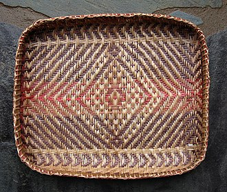 Cherokee society - Rivercane basket with Noon-day Sun pattern, by Peggy Brennan (Cherokee Nation)