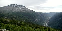 Scenery of Rjukan and Gaustatoppen in Upper Telemark district