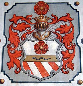 Rosenberg family - Later arms of the Rosenbergs, with elements from the Orsini family arms.
