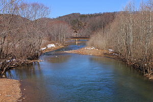 Roaring Creek (Pennsylvania) - Roaring Creek looking downstream near its mouth