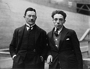 Robert Grassin - Robert Grassin (right) with coach Léon Didier in 1922