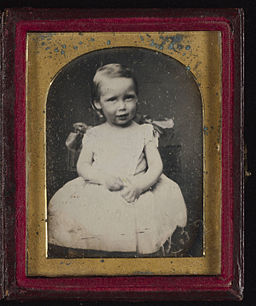 Robert Louis Stevenson daguerreotype portrait as a child