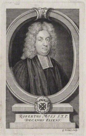 Robert Moss (priest) - Robert Moss, 1736 engraving by George Vertue.