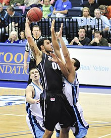 1a42425cf Sacre takes a hook shot while playing for Gonzaga