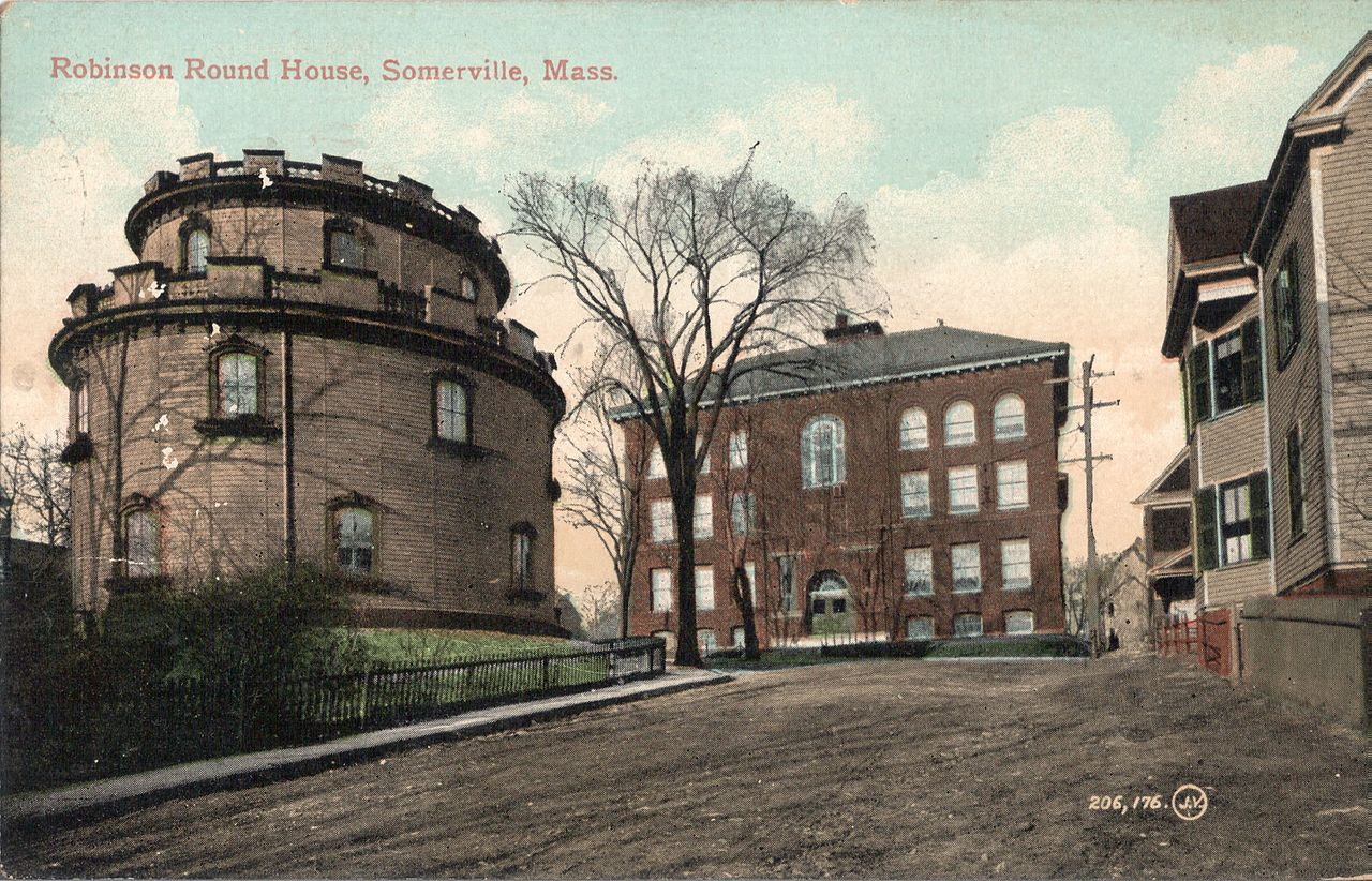 Robinson Round House Somerville Mass Postcard Wikimedia Commons
