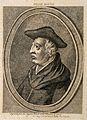 Roger Bacon. Stipple engraving, 1786. Wellcome V0000285.jpg