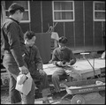 Rohwer Relocation Center, McGehee, Arkansas. Many of the evacuees are very skillful woodcravers. T . . . - NARA - 537383.tif