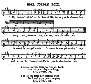 Roll, Jordan, Roll - Version of the song included in Slave Songs of the United States (1867)