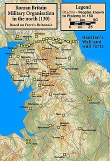 Il Vallo di Adriano attorno al 130.