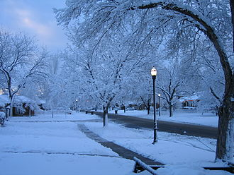 Buildings and sites of Salt Lake City - Rose Park during the winter