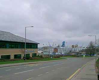 Rosyth Dockyard - Cranes at the Rosyth Dockyard
