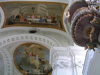 Januarius Zick - Monastery church St Verena, fresco