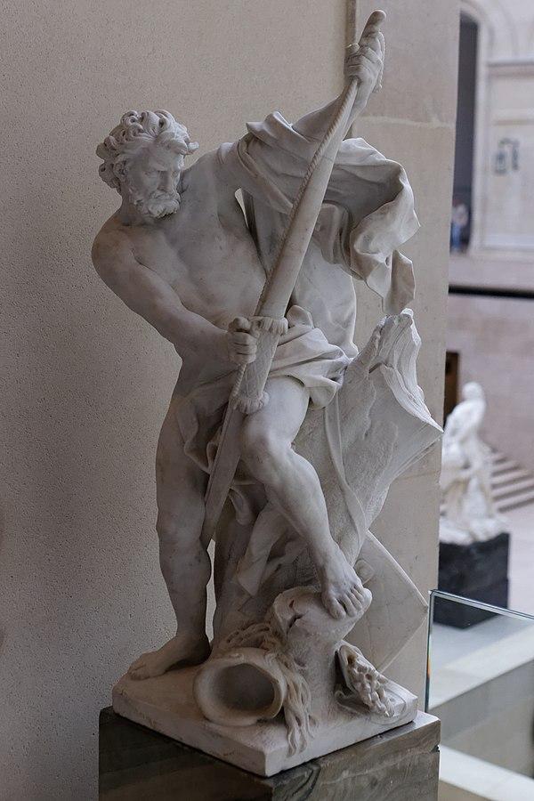 Soldat bandant son arc, Rousseau (Louvre MR1766)