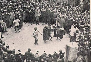 XYZ Line - Moroccan troops in Rubielos de Mora, 1938.