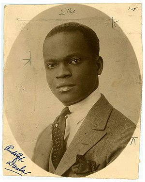 Rudolph Dunbar - Image: Rudolph Dunbar, ca. 1920