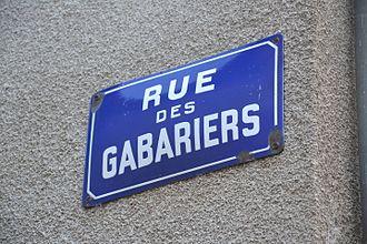 Beaulieu-sur-Dordogne - Street sign of Rue des Gabariers.