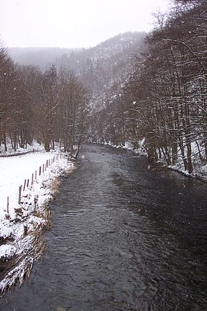 Rur - The Rur between Monschau and Dedenborn during winter