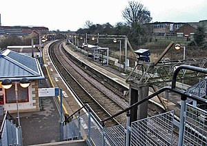 Rye House station looking south