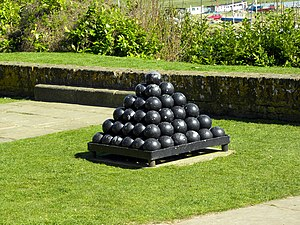 Cannonball problem - A square pyramid of cannonballs in a square frame