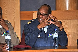 Sergeant Major of the Air Force - Image: SCWO Lefu Daniel Tshabalala SEAC Visits Africomm