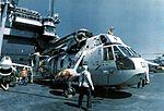 SH-3D Sea King of HS-3 on USS Forrestal (CVA-59) c1972.jpg