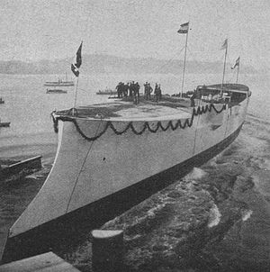 Gazelle-class cruiser - Undine at her launching