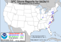 SPC Severe weather reports 21110428.png