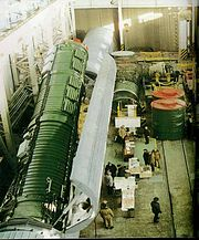 SS-24 Removal of SS-24 ICBM from Rail-mobil Launcher at Bershet