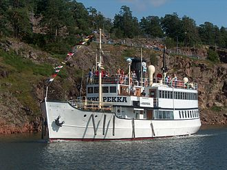Screw steamer - The S/S Ukkopekka, a Finnish screw steamer