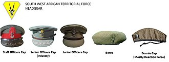 South West Africa Territorial Force - SWATF headgear