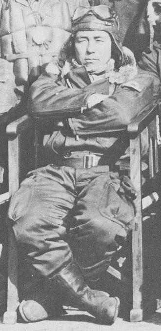 Sadaaki Akamatsu - Akamatsu photographed in 1944 or 1945 with the 302 Air Group at Atsugi, Japan