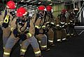 Sailors practice firefighting aboard USS Carl Vinson. (8413081511).jpg