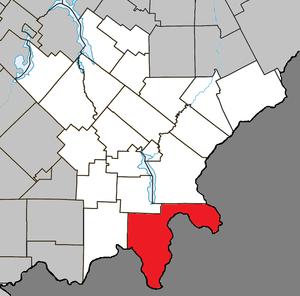 Saint-Augustin-de-Woburn - Image: Saint Augustin de Woburn Quebec location diagram