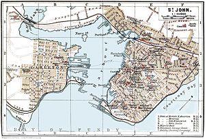 Saint John Harbour - Overview Map of Saint John Harbour, 1894.