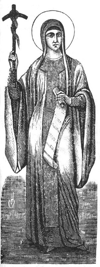 Saint Nino - Saint Nino with her scroll and grapevine cross