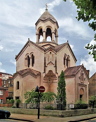 St Sarkis, Kensington - Image: Saint Sargis Armenian church in London 4