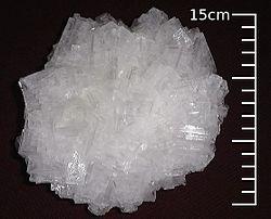 Akmens druskos formulė