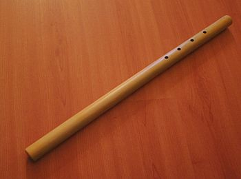 a saluang (bamboo flute) from West-Sumatra