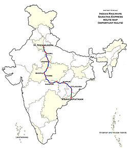 Samata Express Route map.jpg