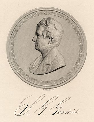 Samuel Griswold Goodrich - Commemorative medal given to Goodrich for his work as the American consul in Paris