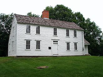 Samuel Huntington (Connecticut politician) - The house where Samuel was born in Scotland, CT